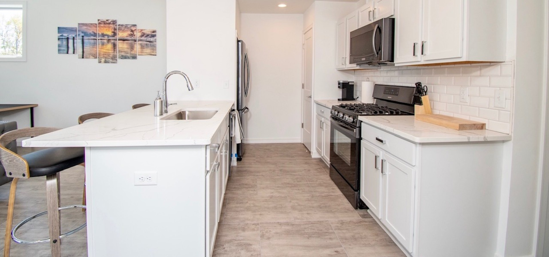 Fully Stocked Open Concept Kitchen